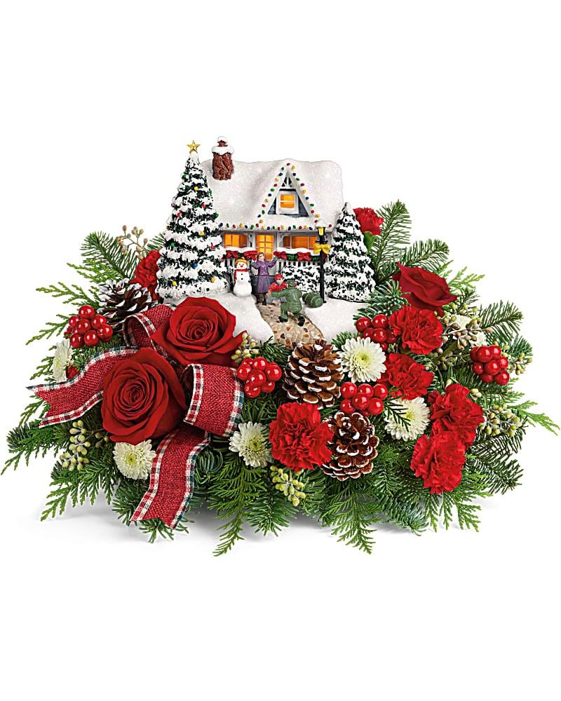 Christmas Flower Centrepiece